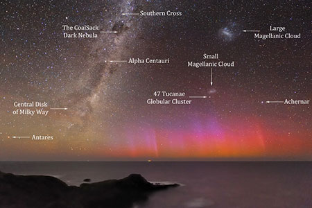 APOD: 2012 February 1 - Red Aurora Over Australia